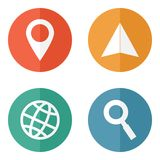 Location travelling icons Stock Photography