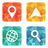 Location travelling icons Stock Image