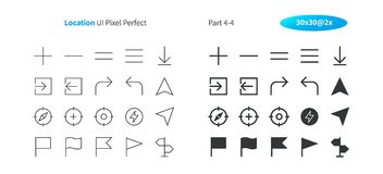Location UI Pixel Perfect Well-crafted Vector Thin Line And Solid Icons 30 2x Grid for Web Graphics and Apps. Simple Minimal Pictogram Part 4-4 Stock Images