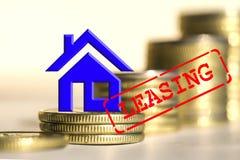 Location - une forme de prêt quand vous achetez les marchandises chères Image libre de droits