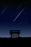 Location for viewing the meteor. Royalty Free Stock Photography