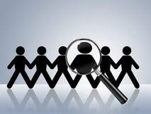 Location voulue par aide de recherche d'un emploi maintenant Image libre de droits