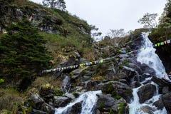 A Beautiful Waterfall in Sikkim, India stock image