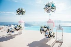The location of the wedding ceremony Royalty Free Stock Photo