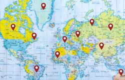 Location on world map. Check in Royalty Free Stock Photos