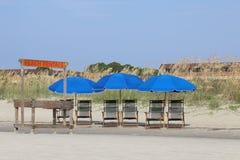 Locations de plage prêtes pour des affaires Photo libre de droits