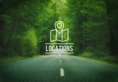 Locations Traveling Destination Navigation Vacation Concept Stock Images