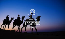 Locations Traveling Destination Navigation Vacation Concept Stock Image