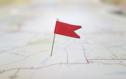 Locator flag Stock Images
