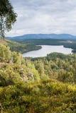 Loch écossais d'en haut Image libre de droits