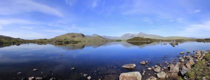 loch гористых местностей причаливает scottish rannoch Стоковая Фотография RF