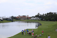 Loch 18, die Spieler, TPC Sawgrass, Florida Lizenzfreies Stockfoto