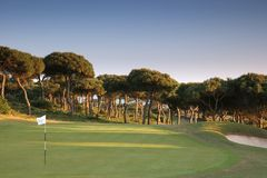 Loch 3 im oitavos Golf lizenzfreies stockfoto