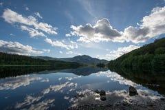Loch Achray stock afbeeldingen