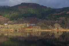 Loch Achray in winter sun Stock Image
