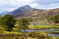 Loch Affric lake Stock Image