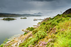 Loch Alsh and Skye Bridge Royalty Free Stock Images