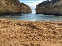 Loch Arc Gorge. Beautiful sandy picture of the Loch Arc Gorge on the Great Ocean Road in Victoria Australia Royalty Free Stock Photo