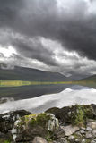 Loch Archaig, Scotland. Loch Archaig, Highlands, Scotland with angry sky Stock Photos