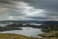 Loch Ardhair et Océan Atlantique, Ecosse Photographie stock