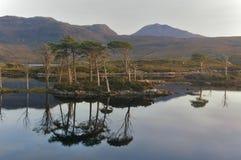 Loch Assynt no por do sol Fotografia de Stock Royalty Free