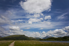 Loch Awe clouds Stock Photography