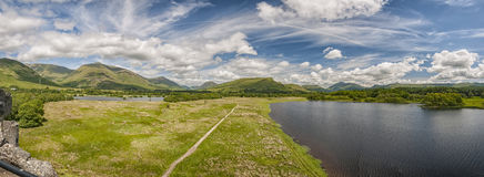 Loch Awe Panorama. A panoramic image of Loch Awe, in Argyll and Bute, Scotland from the kilchurn castle ruins Royalty Free Stock Photography