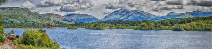 Loch Awe Panorama Royalty Free Stock Images