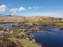 Loch Bà on Rannoch Moor in the Scottish Highlands royalty free stock photo