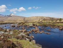 Loch Bà on Rannoch Moor in the Scottish Highlands royalty free stock photo