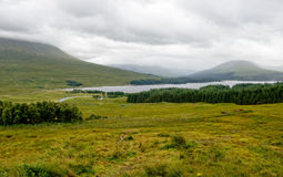 Loch Ba in Scotland. Looking down at Loch Ba in the Scottish Highlands Stock Photography