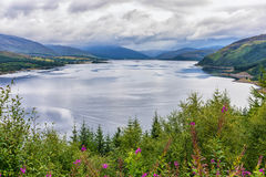 Loch Carron from the viewing point above Stromeferry, Scotland Stock Photos