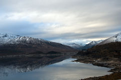 Loch Cluanie in Scotland Royalty Free Stock Photography