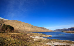 Loch Cluanie valley, Scotland, UK Royalty Free Stock Photo