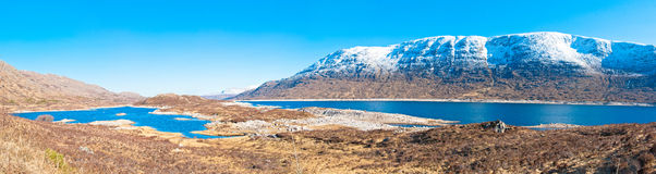 Loch Glascarnoch Valley Royalty Free Stock Photos