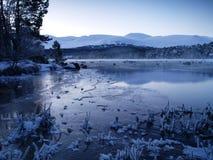 Loch de l'hiver Images stock