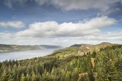 Loch de mening van Ness van Farigaig in Schotland royalty-vrije stock fotografie