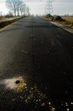 Loch in der neuen Straße Stockbild