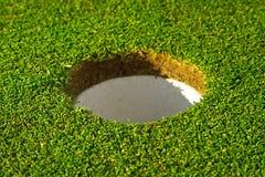 Loch des schönen Golfplatzes Lizenzfreie Stockbilder
