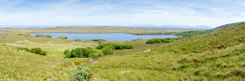 Loch An Draing, Scotland. View of the northern part of Cape Rua Reidh with Loch An Draing in the middle, Scotland Stock Image