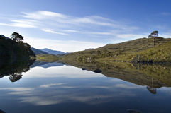 Loch Dughaill Ecosse images stock