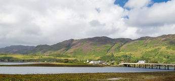 Loch Duich and Dornie Stock Image