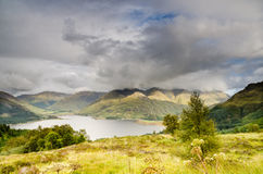 Loch Duich and five sisters Stock Images