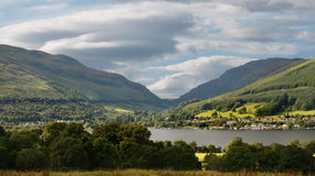 Loch Earn. Is a smaller loch, about six and a half miles long, partly in Stirling and partly in Perth and Kinross, Scotland Stock Photos