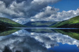 Loch Earn View 2. View on Loch Earn during sunny day with calm water surface, Loch Lomond and Trossachs National Park, Scotland, UK Stock Images