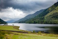 Loch Eck przy Loch Lomond i Trossachs parkiem narodowym Argyll a Obrazy Stock