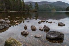 Loch een Eilein Schotland royalty-vrije stock foto's