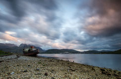 Loch Eil-wreckship Stockfotografie
