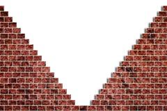 Loch in einer Backsteinmauer lizenzfreie abbildung