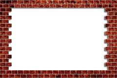 Loch in einer Backsteinmauer Stockbild